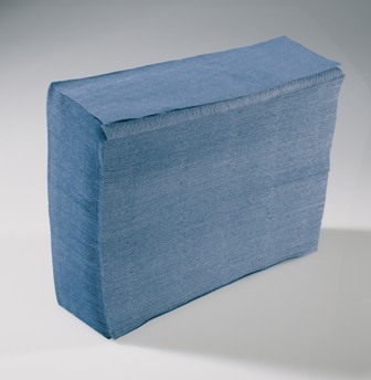 interfold Hand Towel - 1 Ply Blue