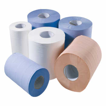 1 ply Blue Centre Feed Roll (21gsm)