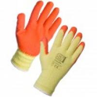 Warrior orange pu grip glove